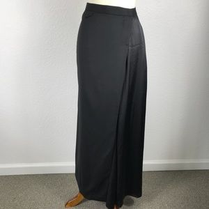 Band of Outsiders Black Smoking Wrap Maxi Skirt